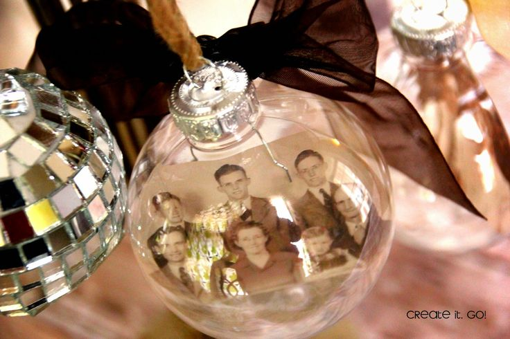 Finished transparent floating photo ornament