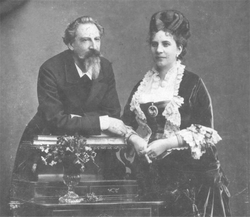 HM King Ferdinand II of Portugal and (morganatic wife) Elise Hensler, Countess d'Edla. Married: June 10, 1869