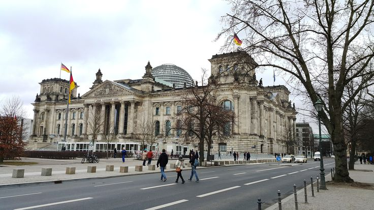 Reichstag building.  Neo Baroque building was erected by paul Wallot . 1993 Foster transformate the building.