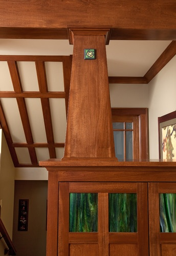 147 best images about craftsman style on pinterest - Pictures of columns in living room ...