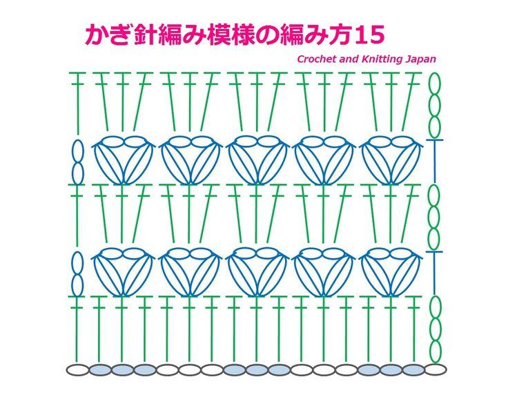 かぎ針編み模様の編み方15:中長編み3目の玉編みと長編み【かぎ針編み】How to Crochet Pattern https://youtu.be/a2G5l_5_y1E  中長編み3目の玉編みでハートのような模様を編みます。 長編みの段と、玉編みの段の繰り返し模様です。
