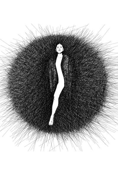 Les Dessins Du Dimanche, 2013. Projet collaboratif, dessins numérique ou broderies. Les DDD, Entre-deux.