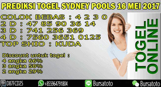 Prediksi Togel sydney Pools 16 Mei 2017 bursatoto.com
