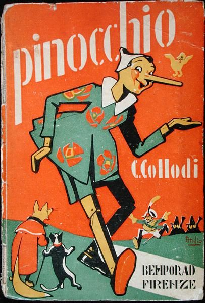 Pinnochio. The original Italian, Carlo Collodi edition. The blue fairy was actually a 'little dead girl with blue hair' who lived in a house in the forest... it's so dark, but beautiful.