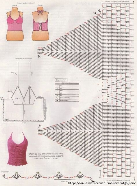 Crochet Patterns Diagrams Charts Inspiration Tejido