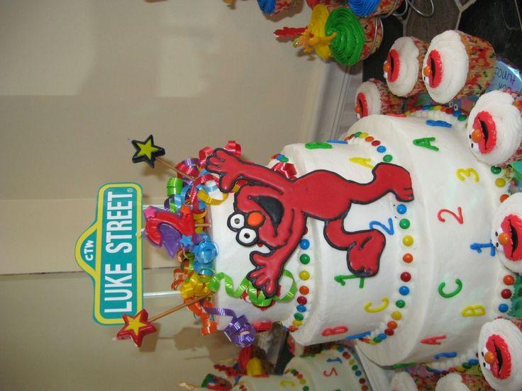 Cake Decorating Sesame Street Birthday : 20 best Sesame Street Cake images on Pinterest Elmo cake ...