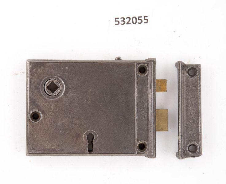Antique Steel Rim Lock 532055 by CharlestonHardwareCo on Etsy