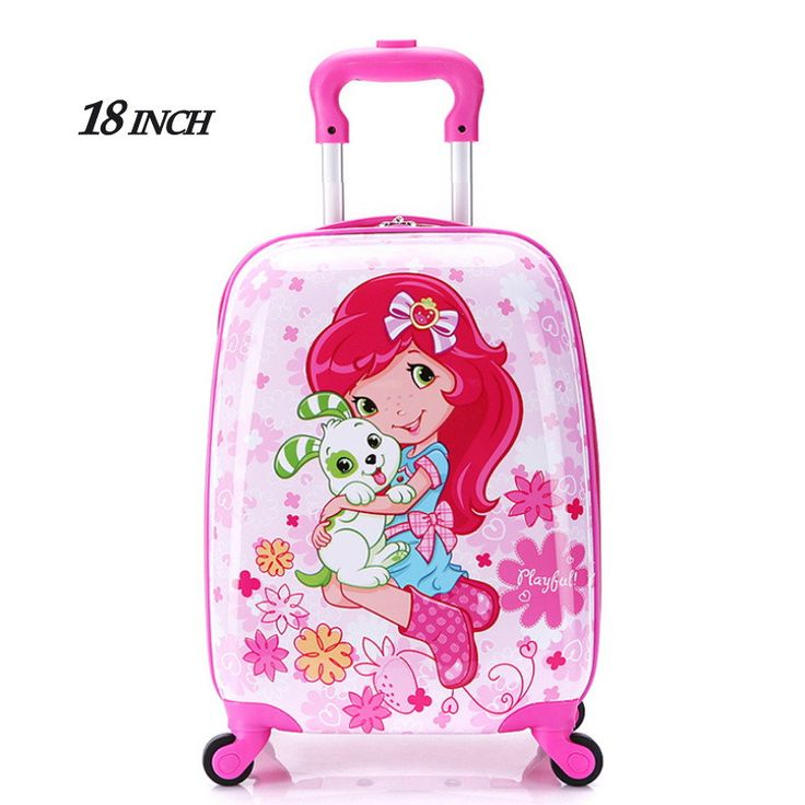 "2016New 18""Girl Children Suitcase Luggage,Child Kid Boy Girl Princess Cat ABS Cartoon trolley case box Traveller Pull Rod Trunk  #kids #backpack #highschool #fashion #bagshop #L09582 #handbags #bag #YLEY #shoulderbags"