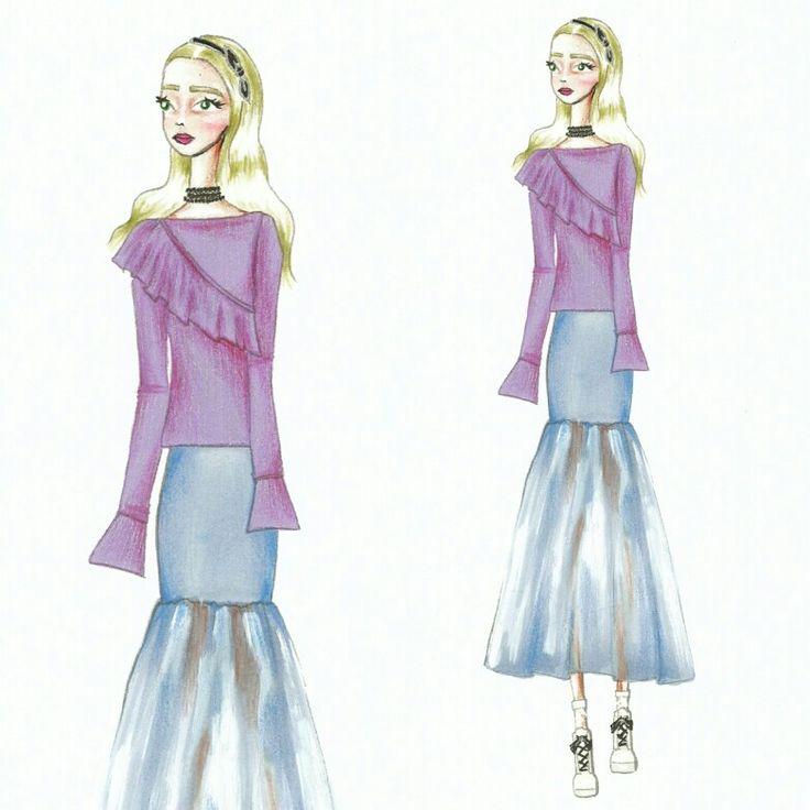 Wonderland (15)  Fashion sketch