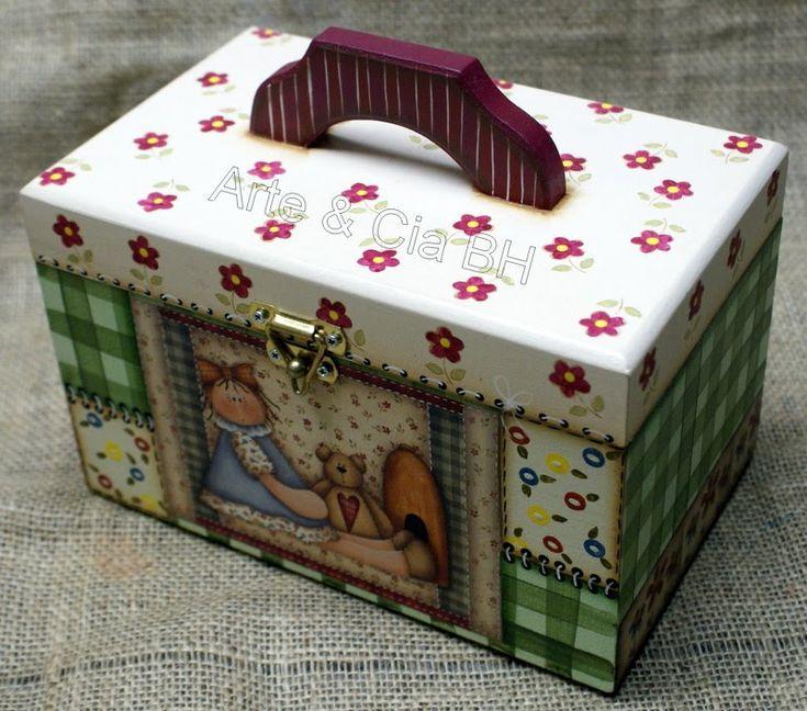 caja decorada.