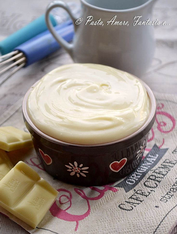 Ganache al Cioccolato Bianco, ricetta Bimby e Tradizionale