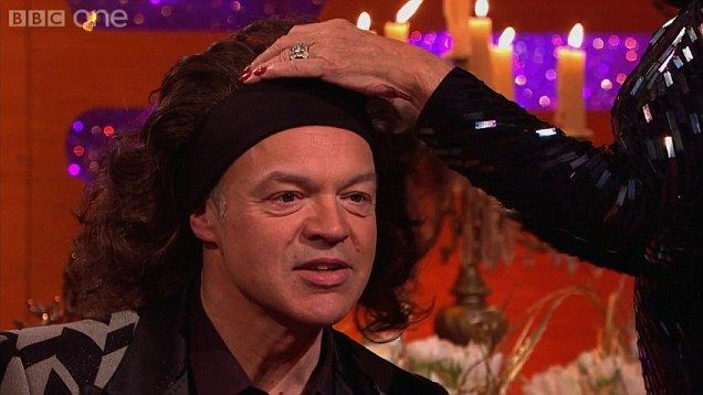 Joan and Jackie Collins share Joan's wig collection with Graham Norton, Michael Buble and Frank Skinner on The Graham Norton Show.