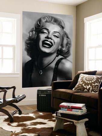 Marilyn Monroe by Tom Croft Movie Mural Wallpaper Mural at Art.com