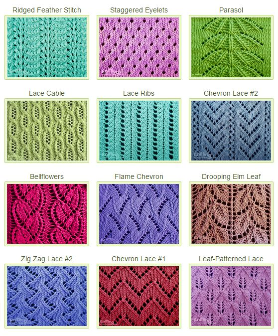 Types Of Knitting Stitches Pictures : 25+ best ideas about Knit Stitches on Pinterest Knitting stitch patterns, K...