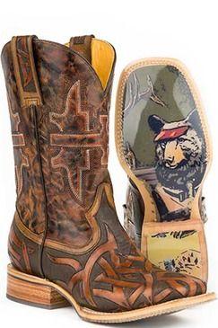 Tin Haul Stag Men's Cowboy Boots (14-020-0007-0211 BR)