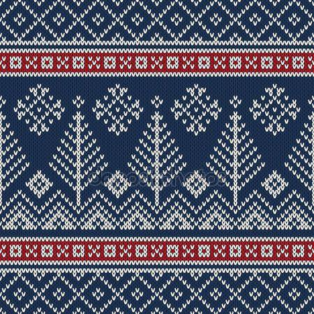 Скачать - Рождественский дизайн свитера. бесшовный узор для вязания — стоковая иллюстрация #83587092