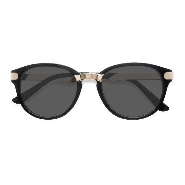 Women's Wynwood - Black round - 16553 Rx Sunglasses (30.295 CLP) ❤ liked on Polyvore featuring accessories, eyewear, sunglasses, two tone glasses, round wayfarer, two tone wayfarer sunglasses, round rim sunglasses and wayfarer glasses