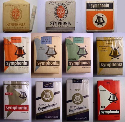 1950-1985, Hungary, Popular cigarette brands