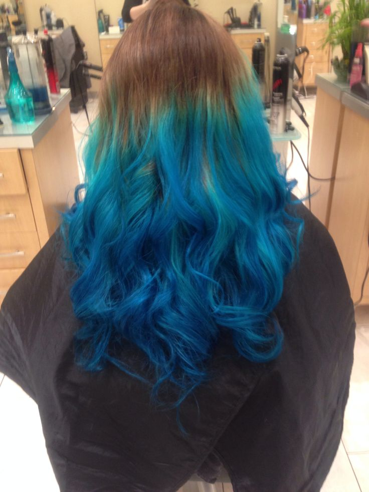 Blue tipped ombré