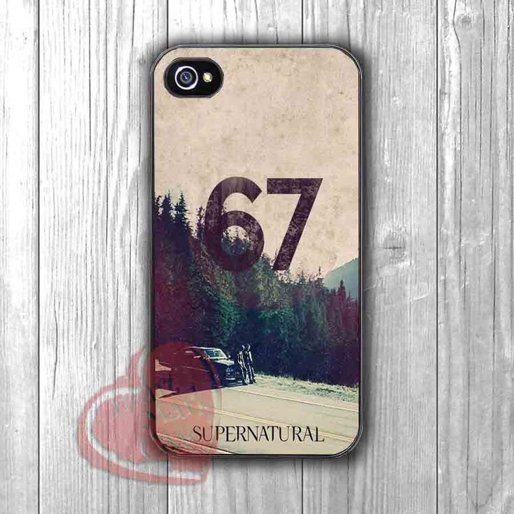 Supernatural Impala car with Winchester boys -SHN for iPhone 6S case, iPhone 5s case, iPhone 6 case, iPhone 4S, Samsung S6 Edge