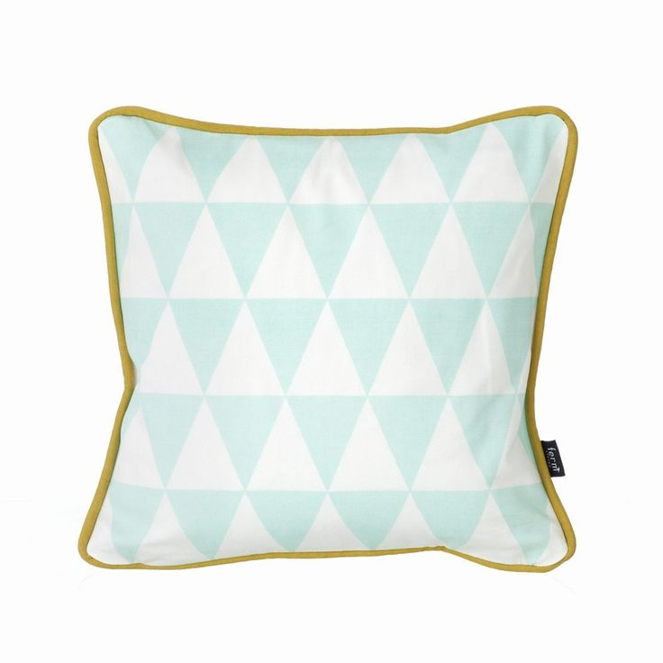 Little Geometry Cushion in Mint from Ferm Living at My Haus