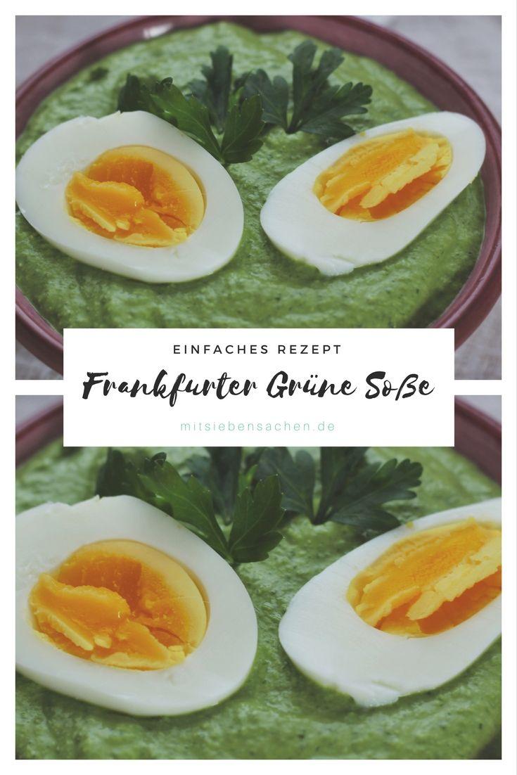 Frankfurter grüne Soße- ein traditionelles hessisches Gericht mit 7 Kräutern. Einfach und schnell zubereitet.
