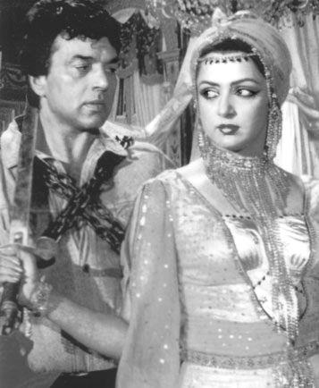 Dharmendra and Hema Malini.