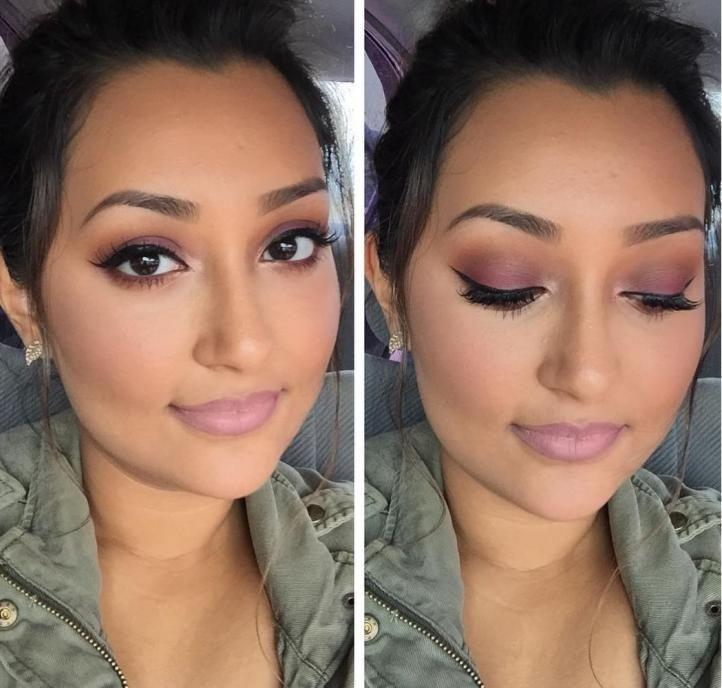 Protruding eyes makeup - makeup for brunettes with dark skin