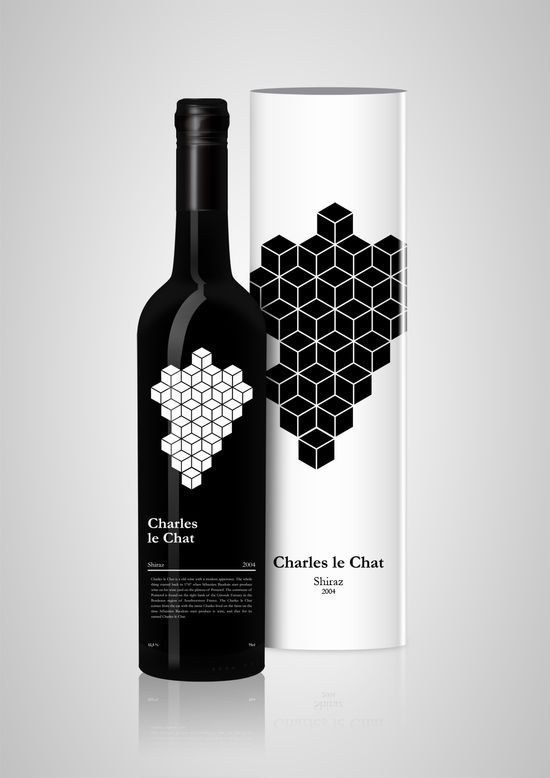 This striking geometric concept. | 33 Brilliantly Designed Wine Bottles