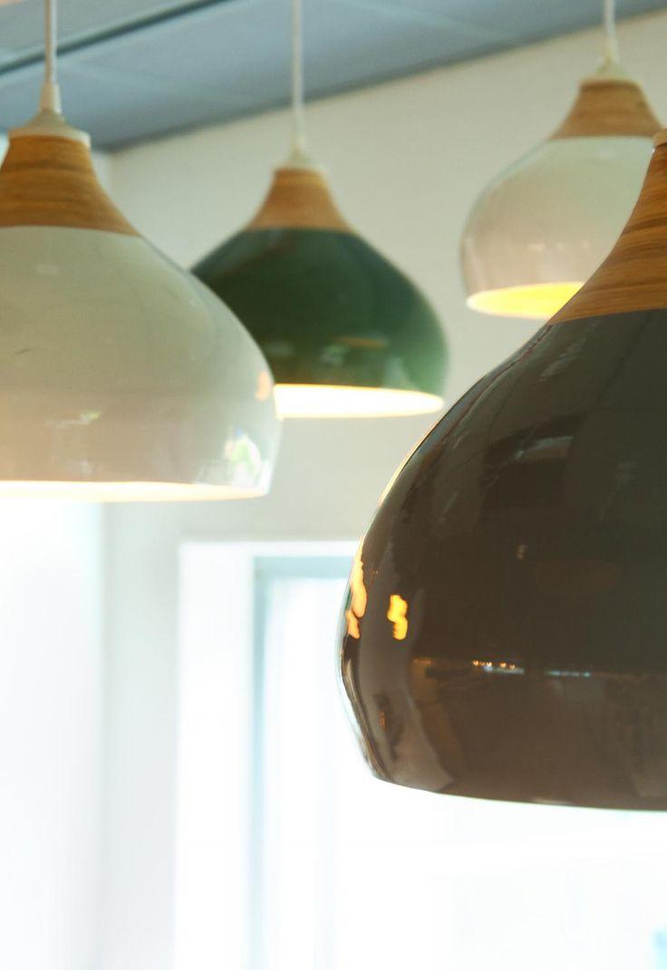 Hanglamp Glazed - Bamboe - Large - Wit - Leitmotiv