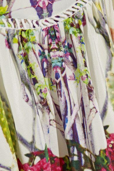 Camilla - Exotic Hypnotic Crystal-embellished Silk Crepe De Chine Maxi Dress - Green