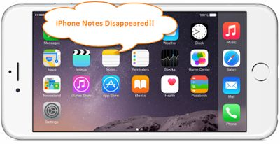 """iPhone Notes Disappeared"" now is a common problem that users may meet after iOS upgrade, failed jailbreak, or factory reset, etc. How to recover deleted notes from iPhone or iPad? Don't worry. Here in this blog, I'll explain several free simple ways to get your disappeared notes back."