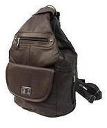 Genuine Leather Concealed Carry Handbag Gun Purse /Convertible Backpack - Brown $89.99 + Free Shipping!