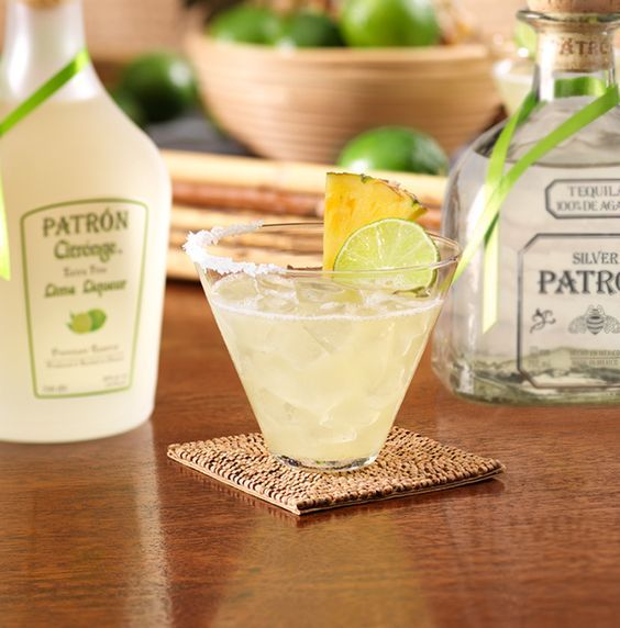 Enjoy Pineapple Lime Margarita, a cocktail made with @Patrón Silver.