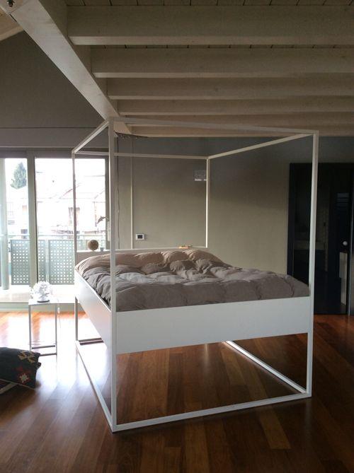 Filodesign BED LED - foto del letto inserito in un contesto moderno - bed picture in a modern contest