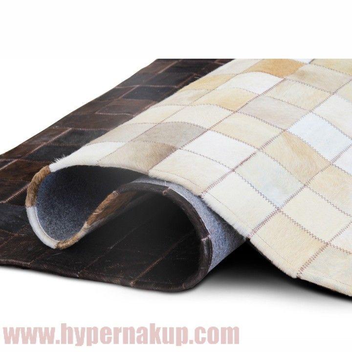 Luxusný koberec, koža, typ patchworku, 120x180 cm, KOBEREC KOŽA typ7