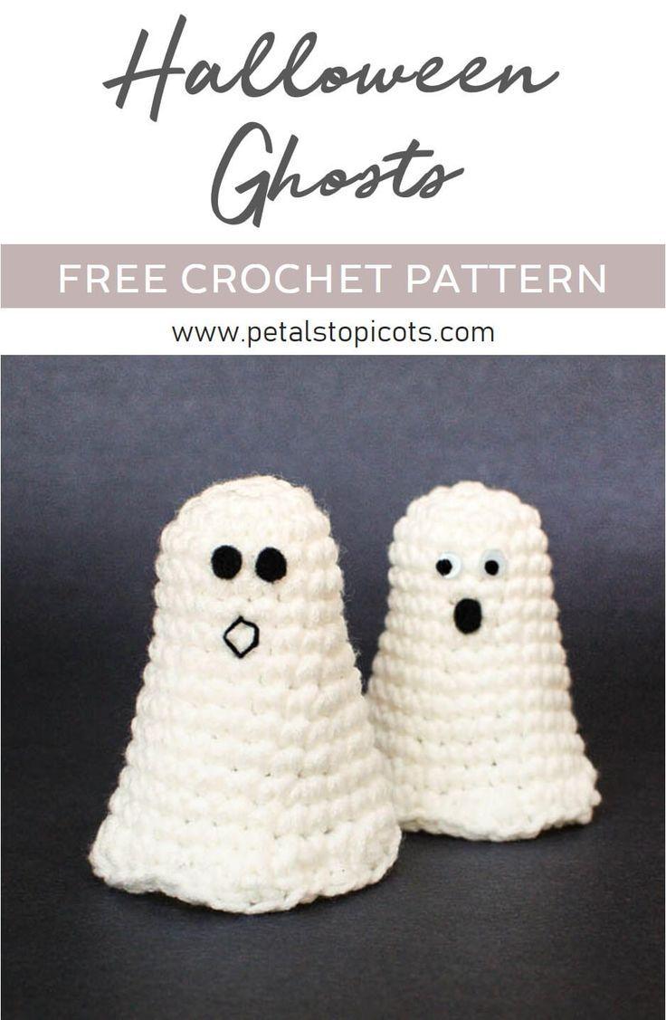 Halloween Ghost Crochet Pattern + Ghosting Printable | Halloween ...