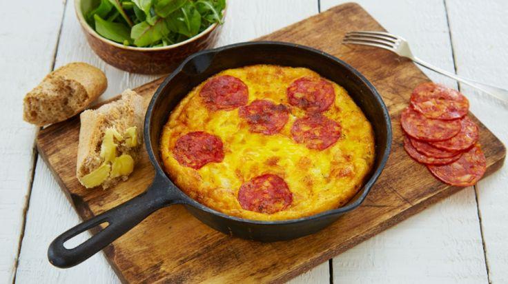 Oppskrift på Spansk «tortilla» med chorizo