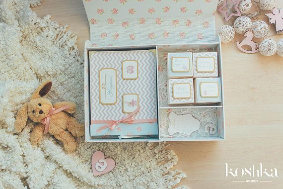 baby memory box. Big one. with a scrapbook.personalized