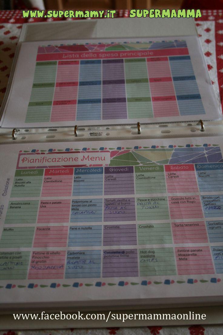 Control Journal Flylady schemi per l'organizzazione della casa, del menu, e la pianificazione da scaricare, ideale per volare tra le faccende domestiche
