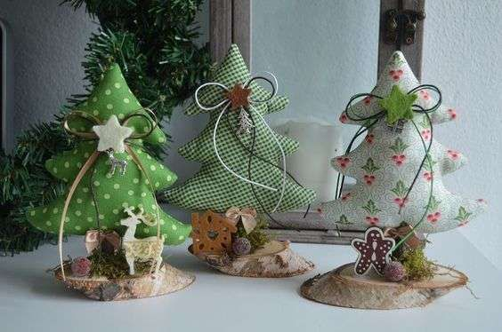 Alberi di Natale in stoffa - Alberi di Natale originali