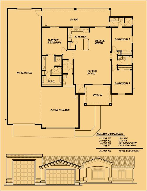 Rv garage floor plans gurus floor for Rv storage plans