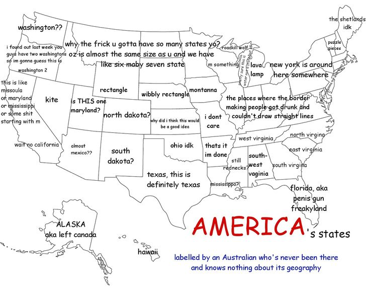 America as labelled by an Australian. I might be Canadian but damn this is funny