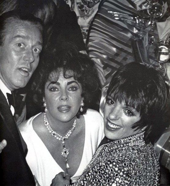 Halston, Elizabeth Taylor and Liza Minnelli at Studio 54*