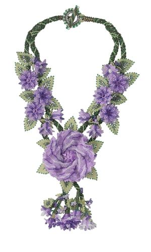 Double-Strand Necklace with Seed Beads and Swarovski® Crystal Drop - Fire Mountain Gems and Beads