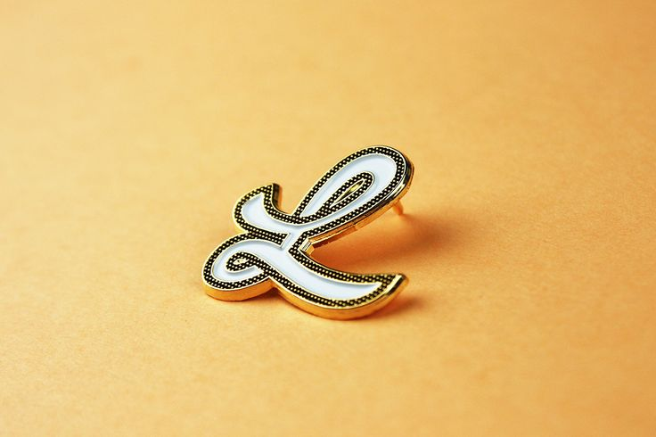 The Character Collection — Enamel Pins — Letter L — Minx Creative