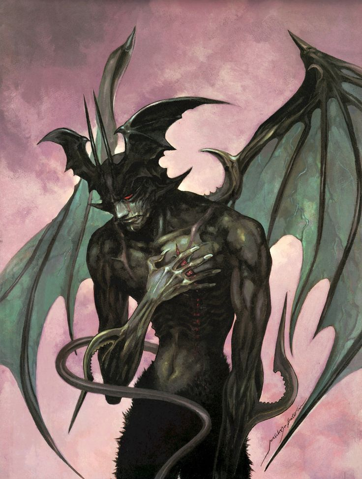 11200:  devilman illustration 09 - Masakazu Katsura