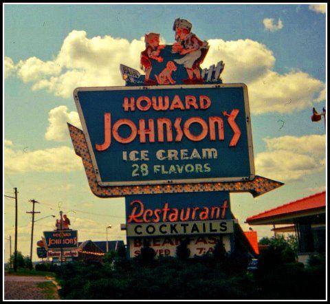 Another piece of roadside history - the Howard Johnson's restaurant & ice cream shop!    Vestal, NY - 1967. Vintage slide from the saturn500f blog.    https://fbcdn-sphotos-a.akamaihd.net/hphotos-ak-ash3/s480x480/538504_10151060981519289_1062604453_n.jpg