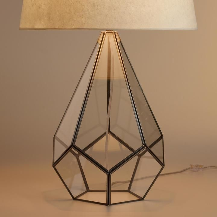 Glass Terrarium Table Lamp Base