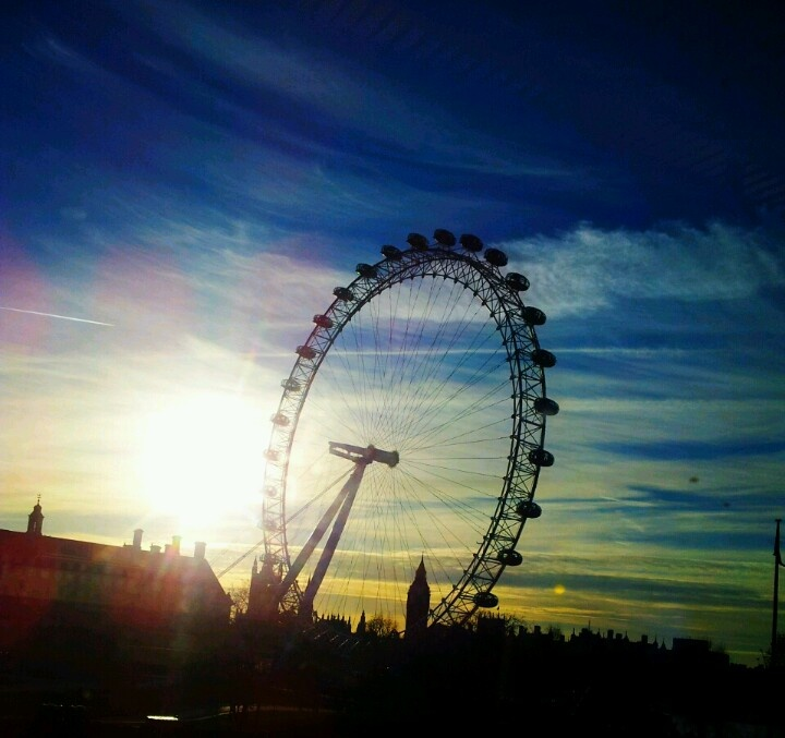 Dramatic London. Experimenting with camera phone editing